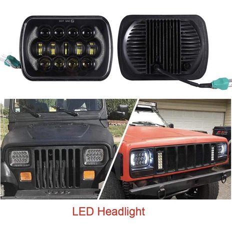 Ópticas / Faróis LED para Jeep Wrangler/Cherokee/XJ/Hilux/Patrol