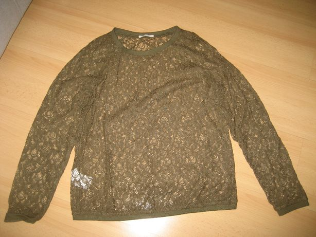 promod - ładna koronkowa bluzka M