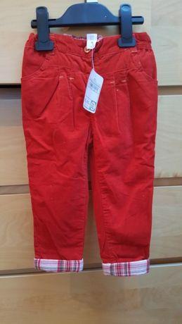 Spodnie C&A NOWE sztruksy r.92