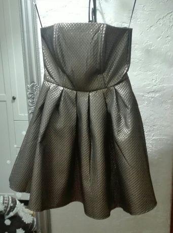 Sukienka sylwestrowa, stare zloto