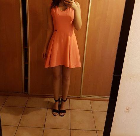 Sukienka łososiowa rozmiar S.