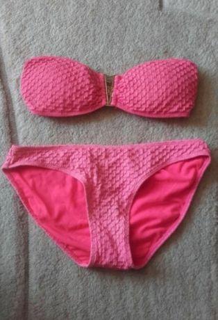 Piękny dwuczęściowy strój kąpielowy M TU róż neon