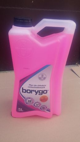 BORYGO 5L różowy płyn do chłodnic chłodzący -35 stopni glikol