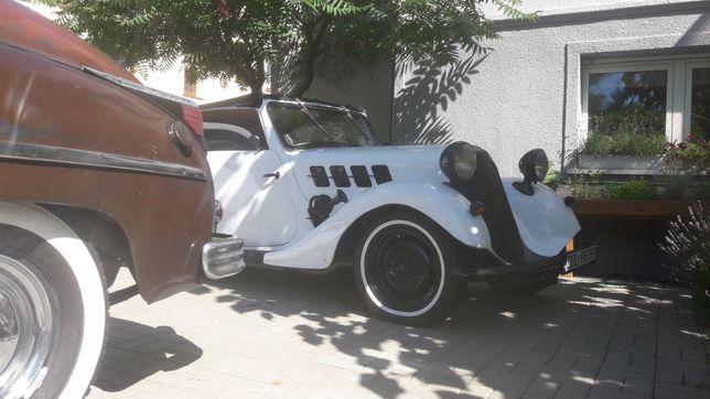 Hansa cabrio 1939r  po odbudowie   zamiana