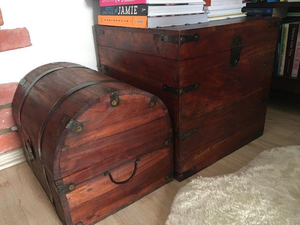 Skrzynia i kufer, styl kolonialny, drewno