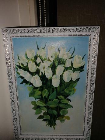 Розы белые. Масло