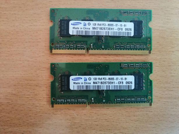 Memórias RAM Samsung 1gb 1Rx8 PC3 - 8500S