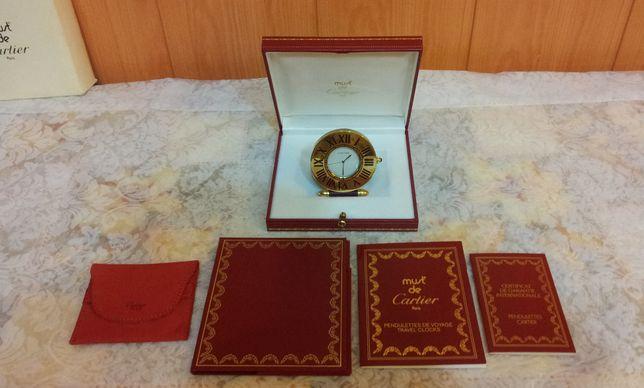 CARTIER Oryginalny Zegarek podróżno-biurkowy