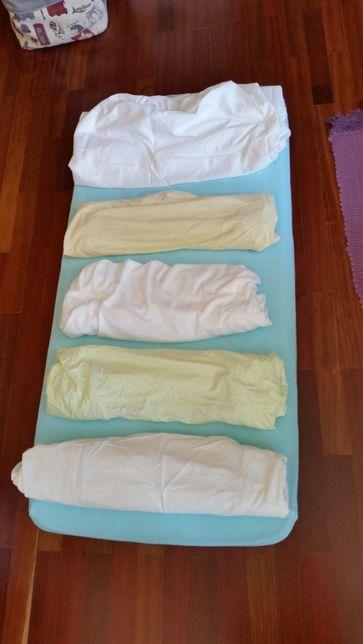 Lencol capa cama bebe 120 x 60