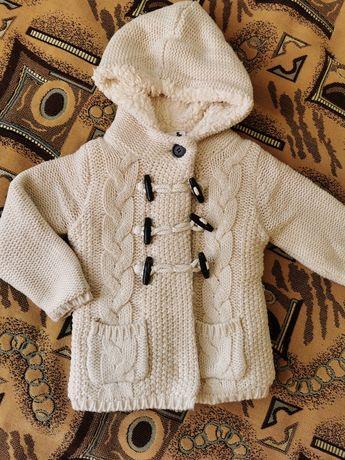 Теплая кофта,куртка,пальто 92 см