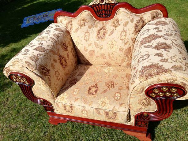 Zestaw wypoczynkowy 2 fotele + sofa 2os stylowy pałacowy