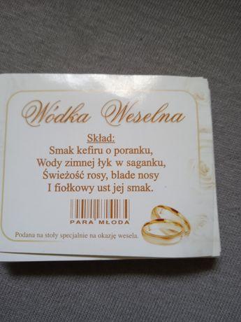 Etykiety Wódka weselna