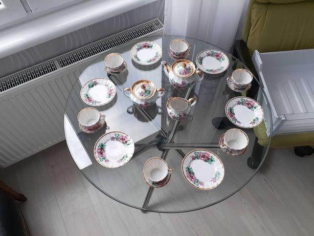 чайный фарфоровый сервиз на 6 персон Китай прозрачный