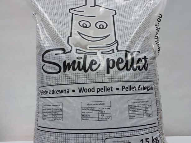 PROMORCJA!!! Pellet 6mm Smile 17,4 MJ/kg