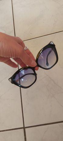 Nowe boskie okulary przeciwsłoneczne cat eye kryształki