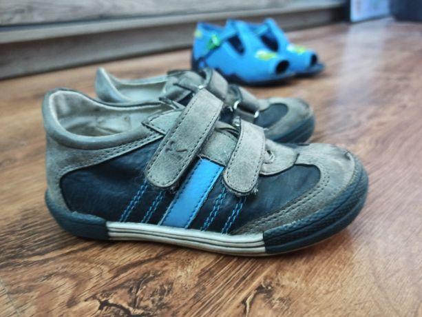 Skórzane buty chłopiece półbuty kornecki rozmiar 25