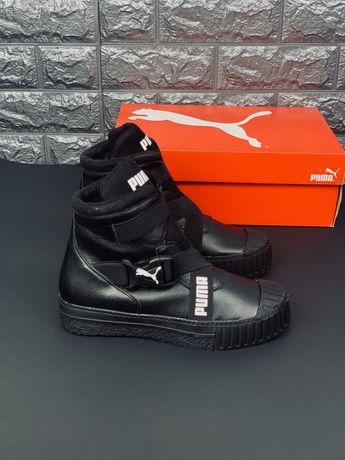 Шкіряні кросівки Puma Cali Bold Пума Калі Болт на флісі Кожа! Ботинки
