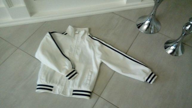 Bluza biała dziecięca rozpinana 116