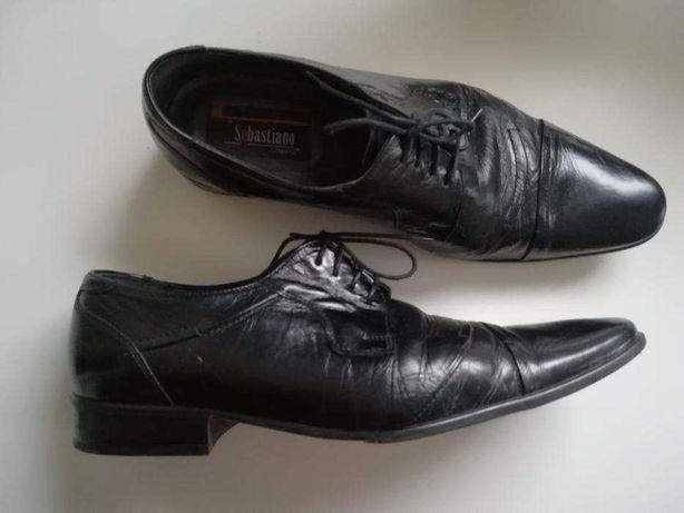 Pantofle, buty wizytowe męskie Conhpol 45 skórzane