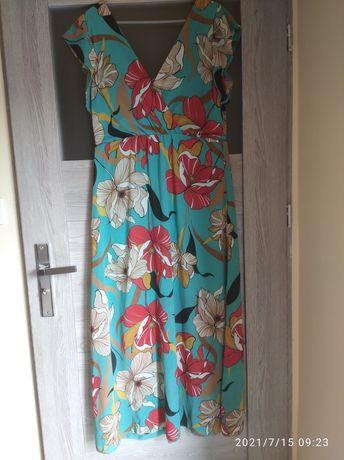 Sukienka maxi kwiaty L/XL jak nowa