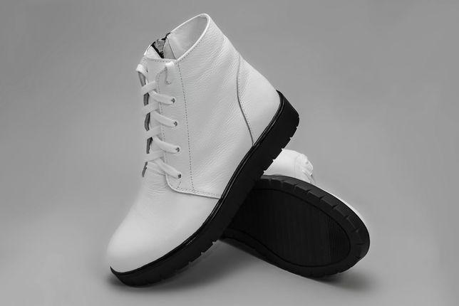 Женские демисезонные ботинки белые 38, 41 размер