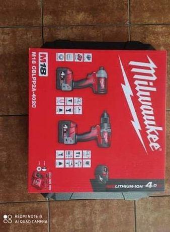 Nowy zestaw Milwaukee m18 wkretarka zakretarka baterie 4.0