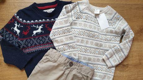 Zestaw HM 2 swetry i spodnie 92 cm