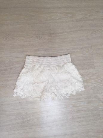 Białe spódnico-spodenki