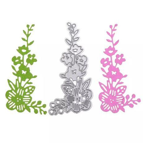 Scrapbooking - Wykrojnik - kwiaty narożne