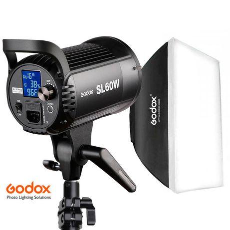КОМПЛЕКТ света: Godox SL60W / софтбокс 60х90 / стойка Arsenal ARS2600