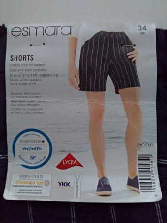 Nowe bawełniane szorty/ spodenki damskie z metką Esmara