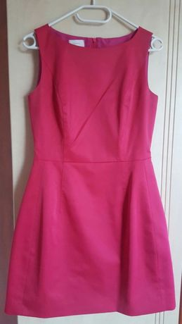 Malinowa sukienka KWATEX r. 40