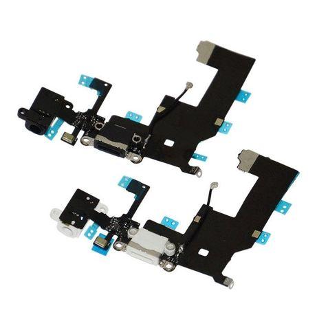 Flex Conector de carga Iphone SE (1ª Geração) - Preto e Branco