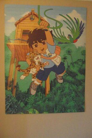 FOTOTAPETA Diego i przyjaciele Dora wydruk plakat duży 150x112,5cm