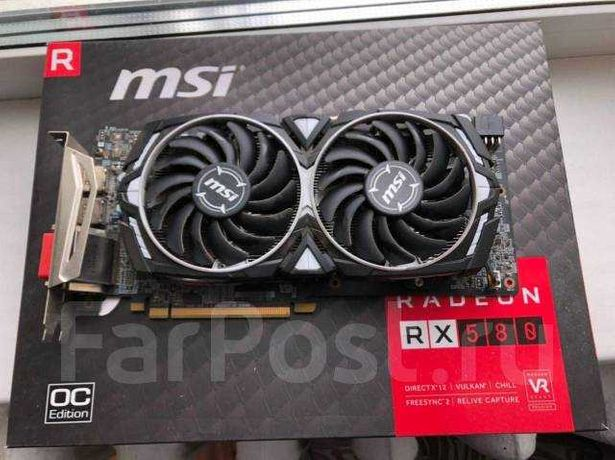 MSI PCI-Ex Radeon RX 580 ARMOR 8G OC GDDR5 (256bit) (1366/8000)