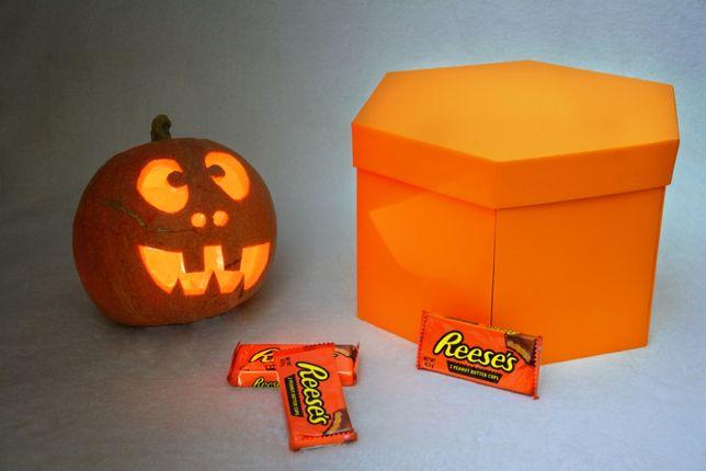 Halloween Box Prezent Dekoracja Słodycze Ślub Upominek Kosz Słodkości