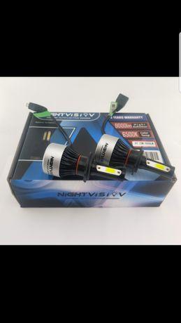 NightVision Nighteye Zarowki Led H7 Lub H1 9000 LM  72 W 6500K