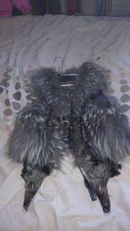 Продам жилетку/шубу из натурального меха чернобурки