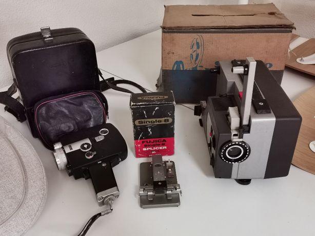 Vintage Super 8 + Projector + Splicer Sankyo
