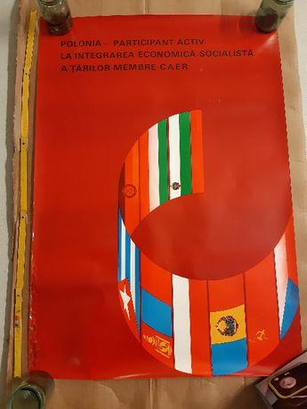 Plakat Integracja Ekonomiczna Demoludów PRL Robert Sobczyński 1974