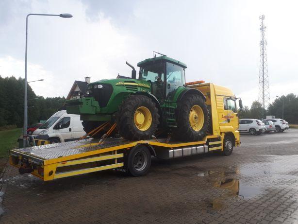 Transport maszyn rolniczych autolaweta pomoc drogowa
