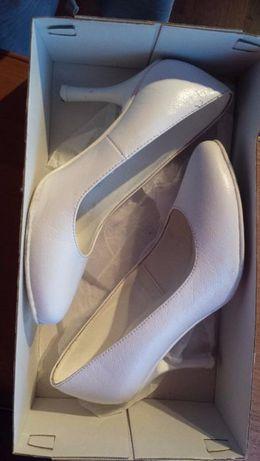 Piękne buty ślubne firmy Witt na obcasie. Rozm. 35