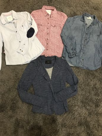 Пиджак h&m рубашка джинсовая h&m цена за все
