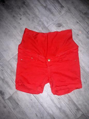 Krótkie spodenki szorty ciążowe czerwone h&m