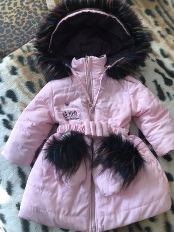 Новая зимняя курточка с рукавичками