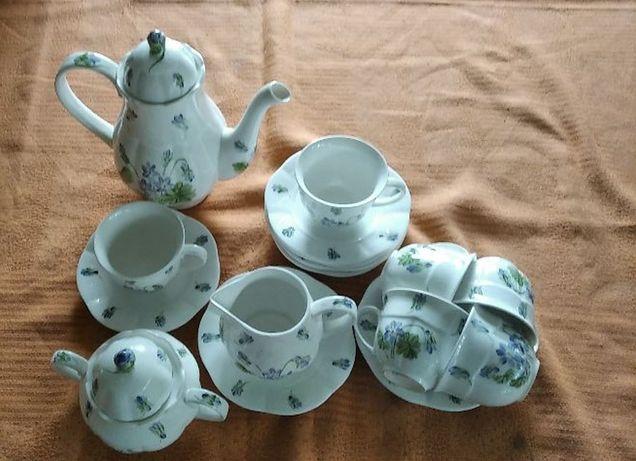 Komplet śniadaniowy porcelana 6 osób nowy i tani
