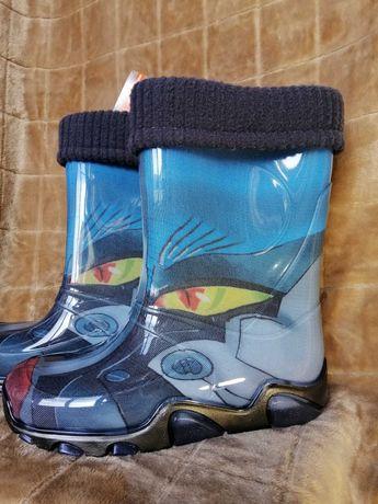 Резинові чоботи  Demar для хлопчика НОВІ  Розмір: 34/35 (22 см)