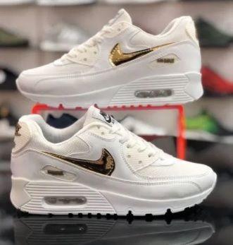 Nike Air Max 90. Białe - złote. Rozmiar 40. PROMOCJA!