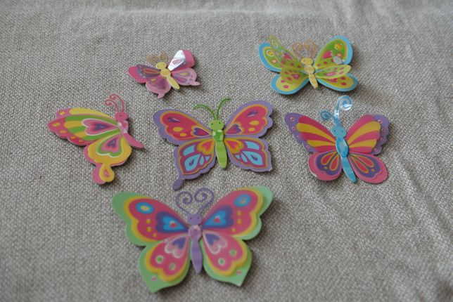 Naklejki naścienne, motylki, sówki, biedronki