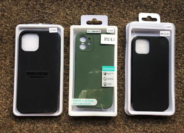 Capa de silicone soft touch para iPhone 12/ iPhone 12 Pro / 12 Pro Max